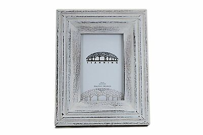 Tianning Handmade Wooden Photo Frame Whitewashed Picture Frame46,White