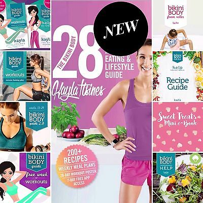 NEW 2017 Kayla Itsines 28 Day Healthy Eating Guide + Ten Bikini Body Guides