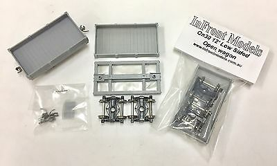 On30 Scale 12ft Bogie Low Sided Open wagon kit