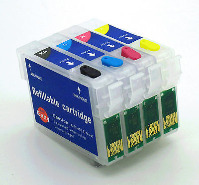 Refillable Ink Cartridge Kits fits Epson Stylus S22 SX125 SX130 SX235W (NON-OEM)
