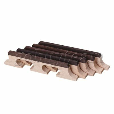 Wood Color Maple 4 String Banjo Ukulele Guitar Bridge Musical Parts Pack of 5