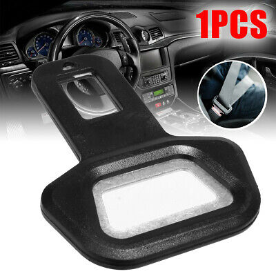 Universal Plastic+Aluminum Car Safety Seat Belt Buckle Alarm Stopper Clip Clamp