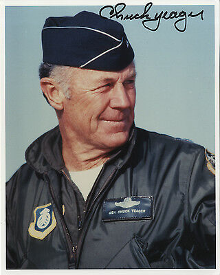"""Brig.Charles Elwood """" Chuck """" Yeager - 1st to break the Sound Barrier Signed."""