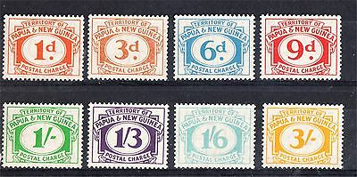 Territory New Guinea Mint Postal Charges Set 8 To 3/- (D59)