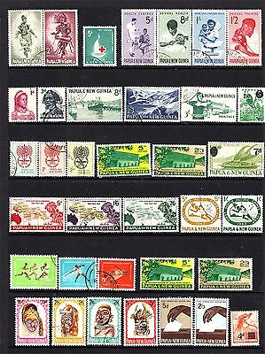 Papua New Guinea Page Pre-Decimals Very Fine Used (D54)