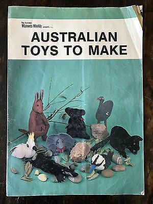 Vintage Paper Pattern Australian Toys To Make Woman's Weekly