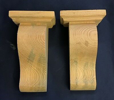 Pair of Zen Corbels with Capping plain Cut corbels PN382 (Seconds)
