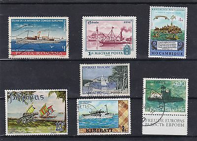 timbres bateaux stamps by boat