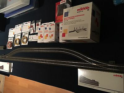 Lot Of Maerklin/ Marklin C-Track, Points, Crossing, Signal, Switches And Cables