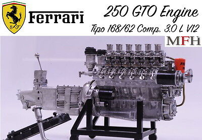 Model Factory Hiro 1/12 Ferrari 250 GTO Engine with Visible Internals