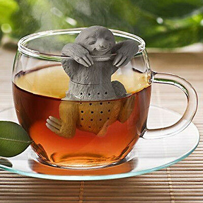 Otter Designed Coffee Loose Herbal Spice Tea Infuser Teapot Strainer Diffuser