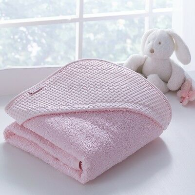 Clair De Lune Luxury Hooded Towel Waffle Pink - SS02 26