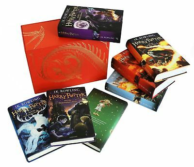 Harry Potter Complete Collection 7 Books Set J.K.Rowling [Hardback] Red Pack NEW