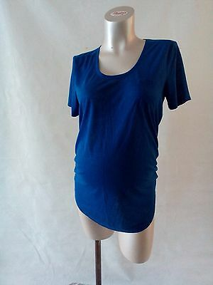 [44] New Look Maternity Blue T-Shirt Size 12