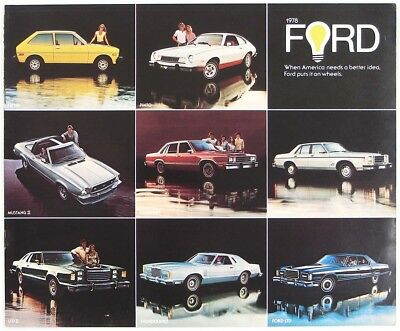 Ford 1978 Mustang II Thunderbird Pinto Fiesta LTD II Dealer Sales Brochure