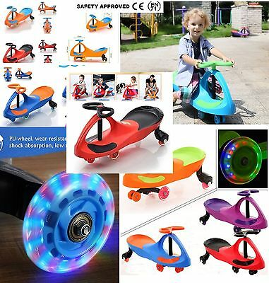 Kid SWING RIDE Flahs SWIVEL SCOOTER WIGGLE GYRO TWIST PLASMA GO KIDS PLASMA CAR