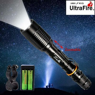 Ultrafire 8000 LM CREE XML T6 LED Flashlight Zoom Bicycle Torch Lamp +Charger CB