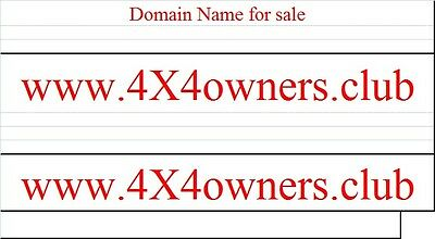 4x4 jeep Club domain names for sale