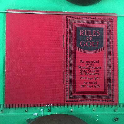 Rules of Golf 1927