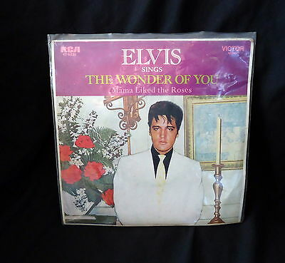 """Elvis Presley 45 EP Record """" The Wonder Of You """"."""