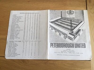 Peterborough United Reserves v Walsall Reserves. 1968/9.