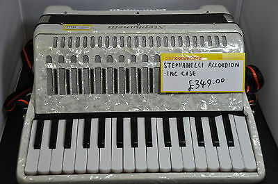Stephanelli Button & Piano Keys Accordian with Hard Case