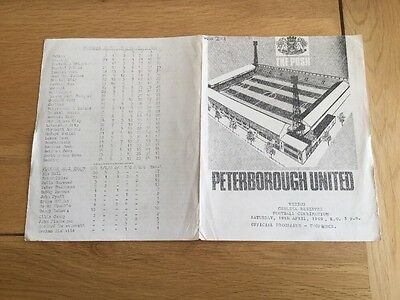 Peterborough United Reserves v Chelsea Reserves, 1968/9.