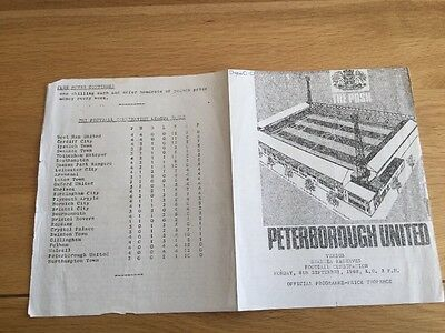 Peterborough United Reserves v Swansea Reserves. 1969/70.