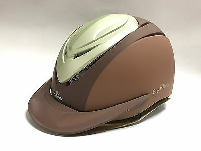 Equi-Theme Equestrian Horse Riding Helmet - Brown/Silver - Small (51-54cm)