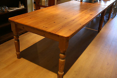 Large Solid Pine 8-10 Seater Kitchen Dining Table Country Farmhouse Eight