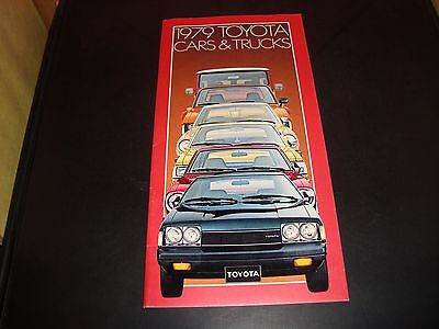 1979 Toyota Cars & Trucks Sales Automobile Brochure EX Condition 22 PAGES