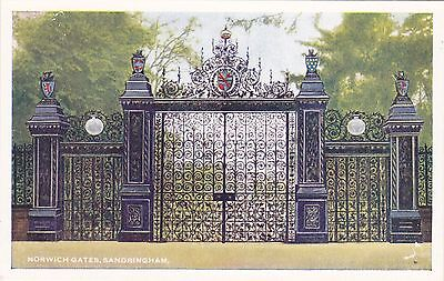 Postcard showing The Norwich Gates,Sandringham,Norfolk.