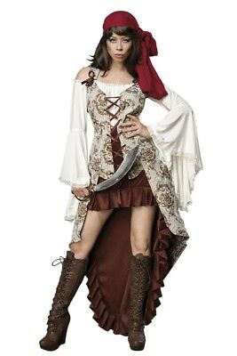 Travestimento adulti vestito pirata donna new costume carnevale party uy 80103
