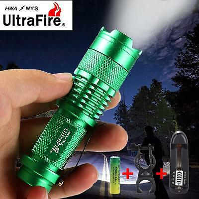 6000 LM CREE LED Mini Flashlight Zoomable Torch Clip 3 Modes 14500 AA Battery CB