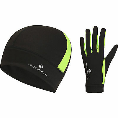 Ronhill vision beanie hat and glove set