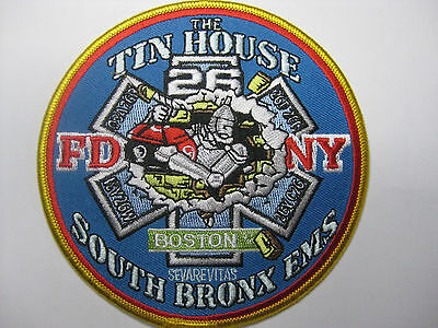 U.s. Feuerwehr Fire Aufnäher Patch Fdny Ems 26 The Thin House South Bronx