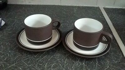 Hornsea Contrast cups and saucers