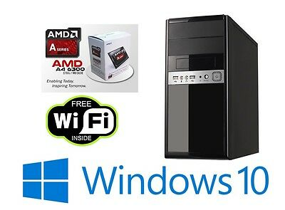 Ultimate PC Trident X - Fast 3.7GHz Dual Core 500GB 8GB Desktop Computer