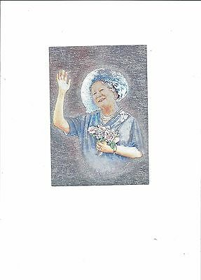Postcard Hm  The Late Queen Mother  In The Dufex Process  Eg Foil Look