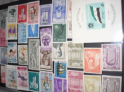 Syria 1960/61 comprehensive selection of mint stamps