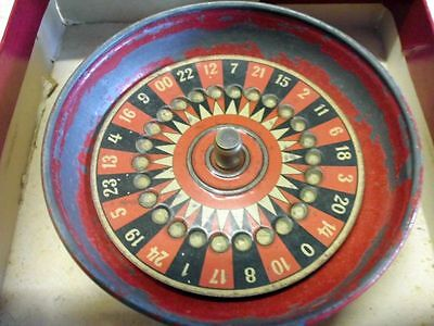 Antikes kleines Blechspielzeug Roulette / antique small tin toy roulette