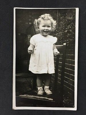 Vintage Postcard - Real Photo Anonymous Child - #A8 - Little Girl