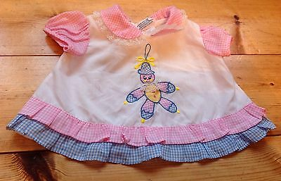 BABY GIRL VINTAGE FLORAL COTTON BLOUSE TUNIC DRESS 0-3 3-6 MONTHS Clown Frill