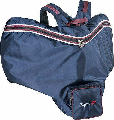 Equi Theme Back Pack For Saddle - Navy/Maroon