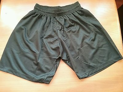 football short black size 36/38 waist with tie cord