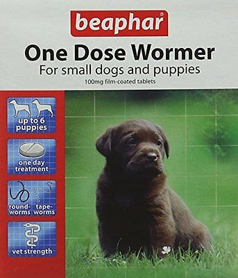 Beaphar One Dose Wormer for Puppies 6 Tablets  Pack of 2, Total 12 Tablets