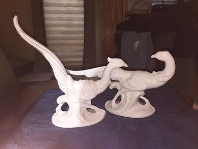 Set Of Two Pheasant Figurines