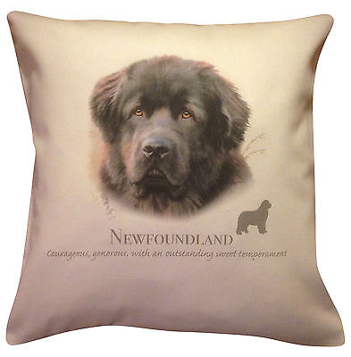 Newfoundland HR Cotton Cushion Cover - Choose Cream or White Cover - Gift Item