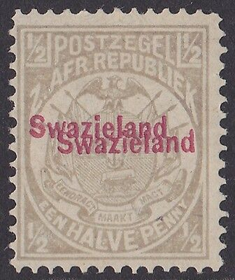 Swaziland : 1892 Transvaal  ½d ERROR DOUBLE Photo Certificate ONLY 120 PRINTED