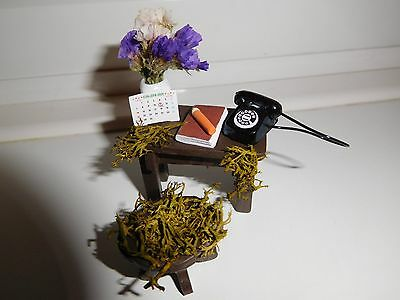 """"""" Call The Midwife"""" Fairy Garden Table And Stool-A One Off Item !!!!!!!!!!"""